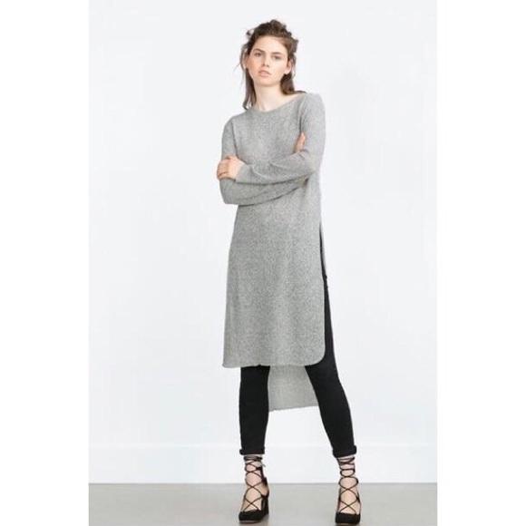 d556f2d3 Women's Zara long sweater with side slits